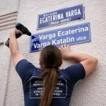 Az ötvenedik kétnyelvû utcanévtáblát szerelték fel Marosv
